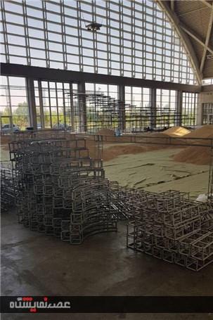 گزارش تصویری آغاز تجهیز و ساخت مانژ نمایشگاه اسب و حیوانات همزیست شهرآفتاب