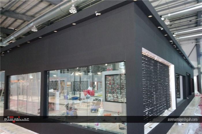 گزارش تصویری آماده سازی نمایشگاه مبلمان تهران
